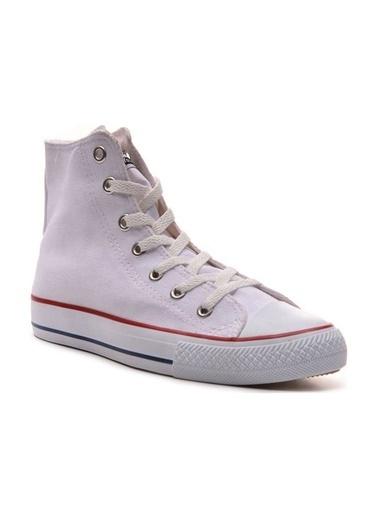 Bulldozer 211402 Erkek Uzun  Keten  Ayakkabı Beyaz